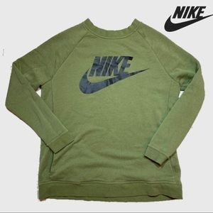 """VTG Nike Red Tag 1990""""s Army Green Pullover"""